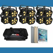 12 Ezlink Par Q6 Bt Light Package With Free Ipad Mini 4 And Carry Bags
