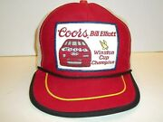 Vgt 80and039s Bill Elliott Coors Winston Cup Champion Patch Snapback Trucker Hat Cap