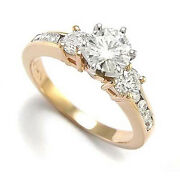 1.38 Ct.t.w. 14k Rose And White Gold Genuine Diamond Engagement Ring R870