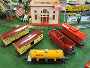Lionel Prewar 2813-2817 Set Of 5 Freight Cars Exc To Ln Cond 1938-1942