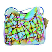Swank Bags Hand-made And Painted Abstract Leather Tote Bag Sb064-6