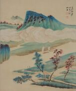 Excellent Chinese Scroll Painting By Zhang Daqian P830 张大千