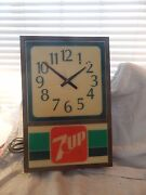 Vintage 7-up Light Up Advertising Wall Clock 1970s 18