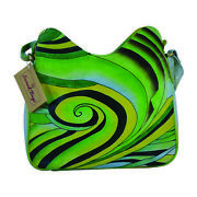 Swank Bags Hand-made And Painted Abstract Swirl Leather Tote Bag Sb064-7