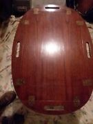 Vintage Illums Bolighus- Brass/ Rosewood Butlerand039s Tray Coffee Table. 60s.
