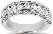 1.79 Ct Round Diamond Wedding Gold Ring Anniversary Band F Color Vs/si1 Clarity