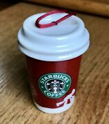 Collectible 2006 Starbucks Ceramic Coffee Cup Christmas Ornament