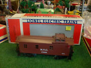 Lionel Trains No. 17600 New York Central Wood-sided Caboose 1987 - Very Nice