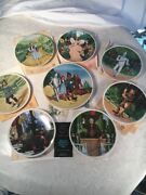 Complete Set 8 Of Knowles 40th Anniversary Wizard Of Oz Plates. Andnbspmint With Coa