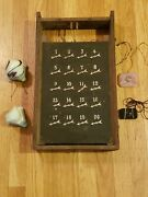 Annunciator Panel Antique With Call Bells Providence Rhode Island 1894