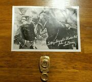 Very Rare Tom Mix Ralston Straight Shooter Magnifying Glass And Compass Toy