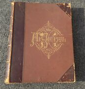 Antique Embossed Leather Bound Book Art Journal Printed In 1875
