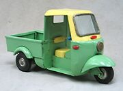 Vintage Tin Friction 3 Wheeled Truck - Delivery Truck -- Made In Japan Yonezawa