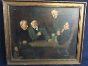 Antique Oil Painting By Fred A.precht 1863-1942 Signed
