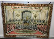 Original Vintage 1880and039s Thatcher Primrose And West Minstrels Poster Very Rare