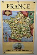 Original Vintage Travel Poster Sncf French Railroad France 1951 Great Condition