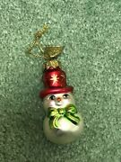 Thomas Pacconi Advent Calendar Replacement Glass Ornament Day 16 Snowman W/ Hat