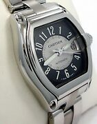 Roadster 2510 Large Size Steel Black And Silver Dial Automatic Watch Mint