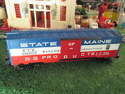 Lionel 19273 6464-275 State Of Maine Box Car Solid Door No Box 1996 Sharp