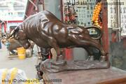 Big Chinese Feng Shui Pure Bronze Made Lucky Wall Street Wealth Bull Ox Statue