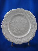 Set Of 8 Ridgway Relief Molded Dessert Plates Lily Of The Valley C1830-40