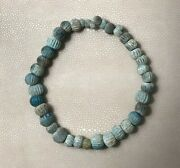 Rare Ancient Roman Beads Sand Glass Necklace 3rd Century Bc - Authentic