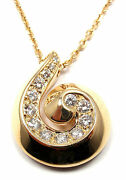 Authentic And Breeze 18k Yellow Gold Diamond Swirl Necklace