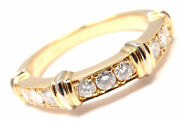 Authentic 18k Yellow Gold Diamond Band Ring Size 48 Us 5