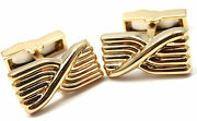 Authentic Rare Vintage And Co 18k Yellow Gold Cufflinks