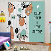 A Sloth That Stays Calm 3d Curtain Blockout Photo Printing Curtains Drape Fabric