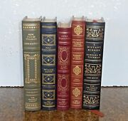 Five Leather Books First Additions By Warren, Drury, Safire, Masters And Tuchman