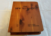 Bible The New Testament Audio Cassette Tapes Wood Case Good News For Modern Man