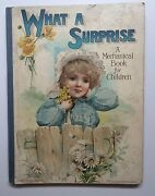 What A Surprise A Mechanical Book For Children Nister Rare Movable Illust 1st Vg