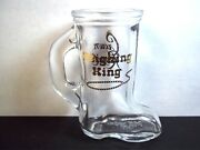 Crown Royal Handled Boot Shot Glass Reigning King Gold Lettering 3