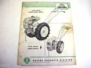 Bolens Lawn And Garden Tractors Owner Manual And Parts List Manual