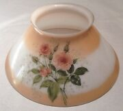 Estate - Find Antique Kitchen / Library Hanging Lamp Shade Gorgeous Roses