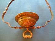 Victorian Lamp Parts Parlor Library Chandelier Kerosene Hanging Oil Lamp Part