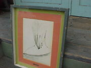 W/c Signed Mid Century Modern / Womans Erotic Painting Of Her Back And Neck