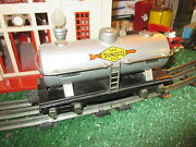 Lionel 654 Sunoco Tank Car Exc + To L/n Cond 1934-42 W Knuckle Couplers X Sharp