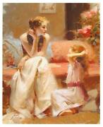 Pino Thinking Of You Sold Out Mother-daughter Giclee Canvas Hand Signed/ Coa