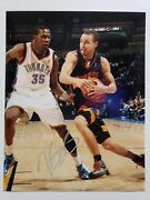Kevin Durant Autographed Photo W/ Stephen Curry 11 X 14 Warriors Signed W/ Coa