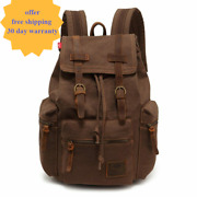 Fashion Backpack Man Canvas Bag School Suitcase Ride Business Trip