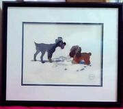 1900s Disney Lady And The Tramp Cell Picture Puppy Love Picture Animation Art