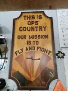 Custom Military Usaf Loring Afb Officerand039s Club Wood Sign - Kc 135 And B-52 W Moose