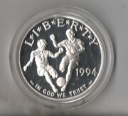 1994 S World Cup Tournement Proof Silver Dollarfree Shipping