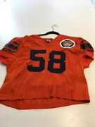 Game Worn Used Clemson Tigers Football Jersey 58 Size 52 Throwback