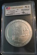 2013-p Silver 5oz Atb Fort Mchenry Np Pcgs Sp70 First Strike/mercanti