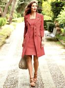Peruvian Connection Paola Denim Trench Coat And Dress Size