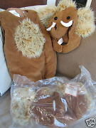 Pottery Barn Kids Halloween Costume Wooly Mammoth And Treat Bag, Size 12-24 Mo New