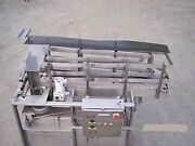 Feeder Denester All Stainless Steel 2 Lane With 2 Drop Magazines